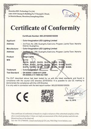 Color-Imagination-SI-112-LVD-Certificate