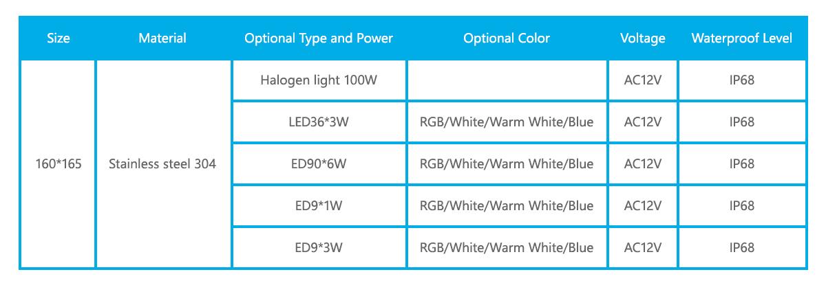 1dn-6010-stainless-steel-embedded-pool-light