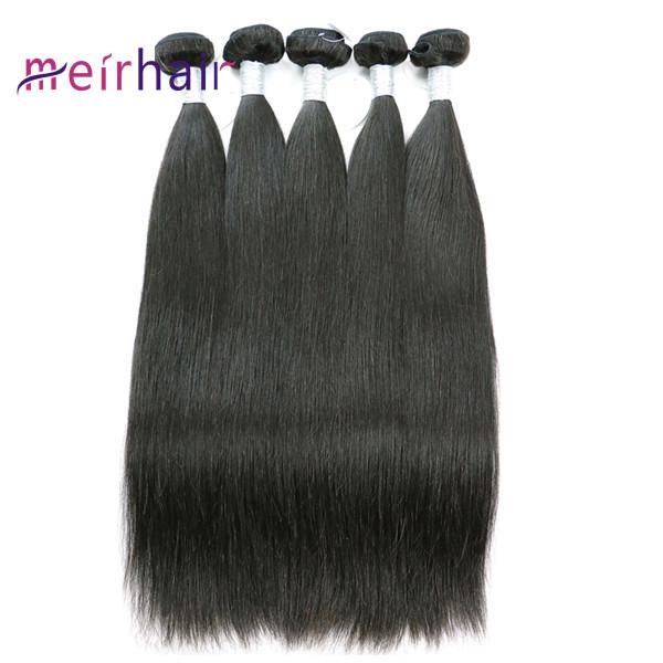 Virgin Human Hair Weaves Straight Wave Can Dye #613