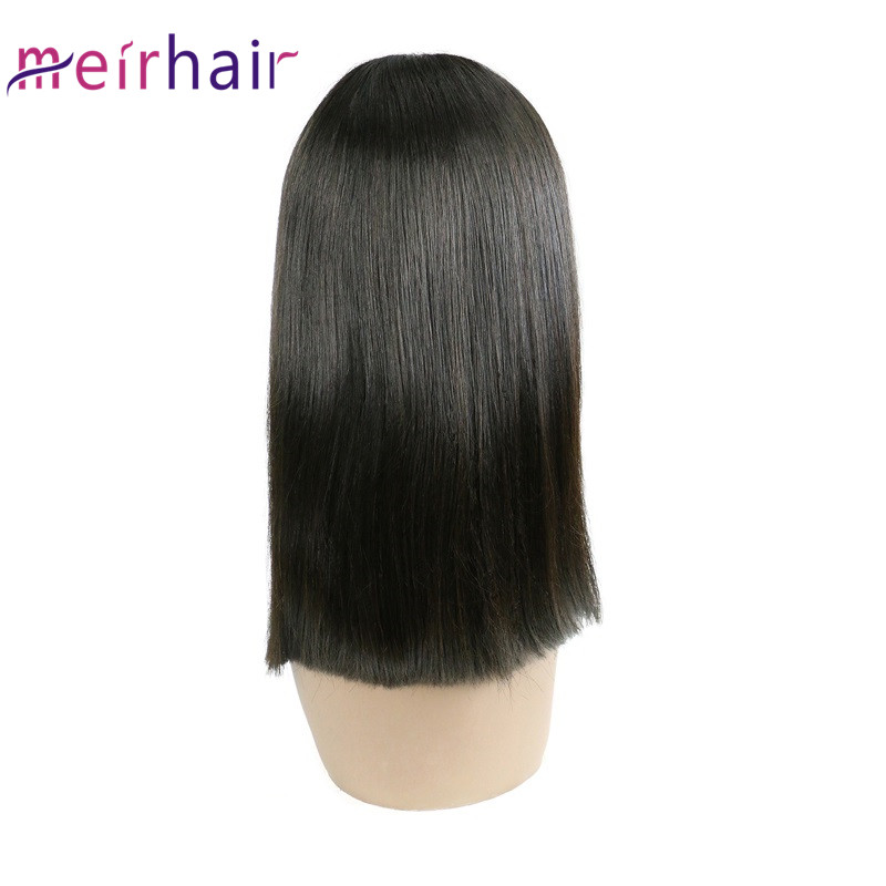 16Inch Straight Bob Frontal Lace Wig New Arrived Natural Color