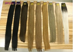 How many pieces of tape extensions will I need for my hair?