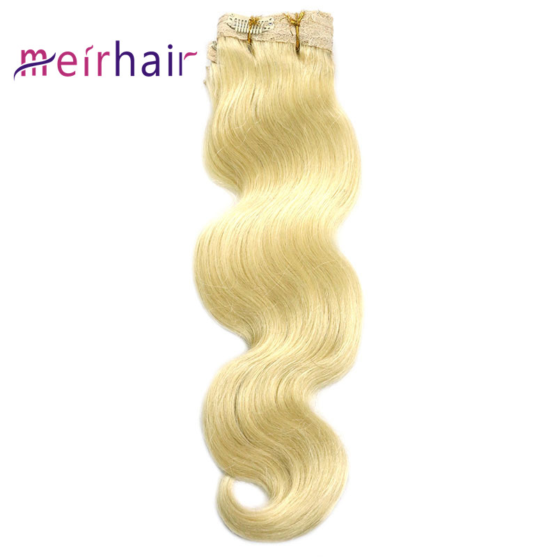 Clip-in 100 Human Hair Color 613 Body Wave-CL02-10a