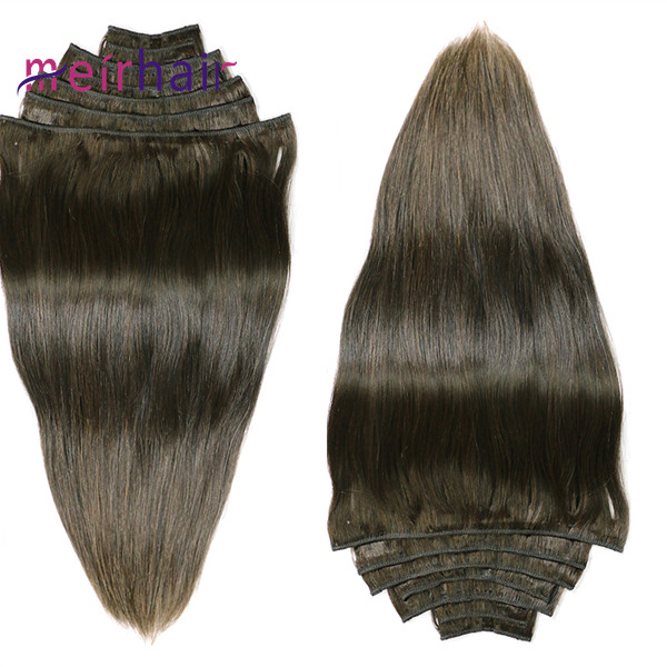 Long Length Clip-In Hair Extensions 7 Pcs For European Style