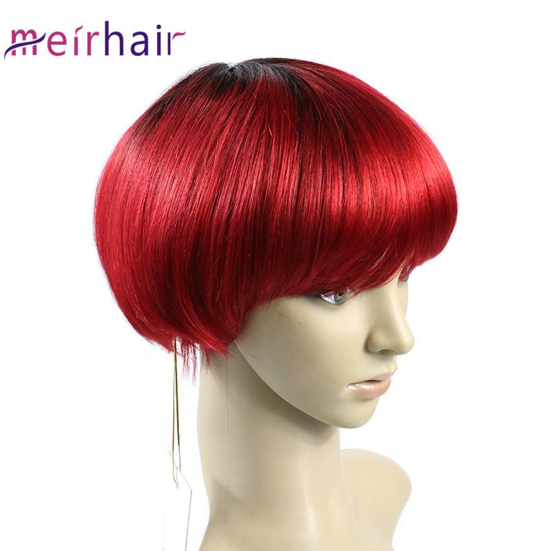 Machine Made Short Brazilian Human Hair Wig