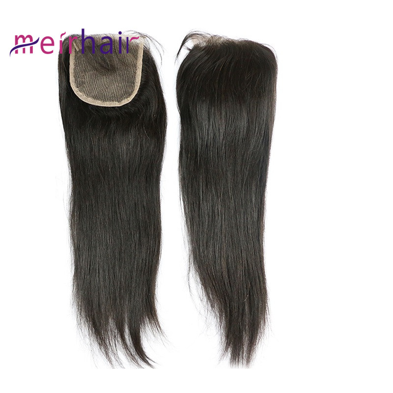 100% Malaysian Full Lace closure 4X4 free part straight wave-CL03